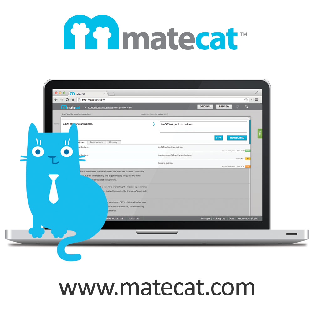 Translate a file with Matecat